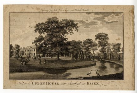 1779 ESSEX Country House West Ham Print from Copper Engraving Upton Stratford